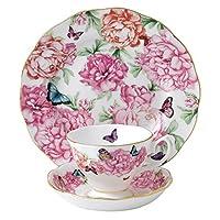 Royal Albert 感恩系列茶具 茶杯/碟/盘,3件套,白色