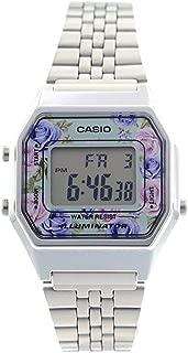 Casio LA680WA-2C 女式复古花卉表盘闹钟数字手表