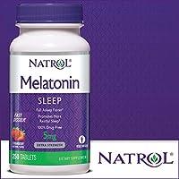 Natrol Melatonin 快速溶解片,草莓味,5 毫克 250 Count 250.00