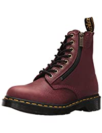Dr. Martens 女士 Pascal w/拉链设计 Grizzly (男孩)皮革时尚靴子