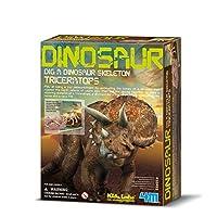 4M 考古探索系列 三角龙考古探索 侏罗纪恐龙 科学探索益智教育玩具 进口