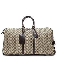 Gucci Luggage Beige Ebony Travel Brown Handbag Leather Bag Duffle New