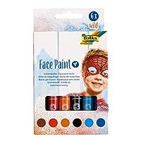 folia 380602 野生面漆 - 6 种颜色适合儿童,经*学测试,防污渍,可用水和肥皂水清洗,非常适合狂欢、化妆礼服和戏剧