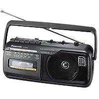 Panasonic 松下 单声道收音机 RX-M40DE-K 带卡座,可接线或电池驱动,黑色