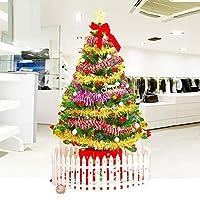 圣诞节60cm1.5米1.8米仿真圣诞树套餐装家用小迷你加密大型发光装饰品圣诞节饰品 (1.5米·约100配饰·LED灯)