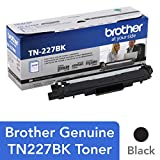 Brother Genuine TN227BK 高产量 黑色 墨盒,TN227