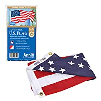 Annin Tough-Tex Woven Polyester Replacement Flag, High Winds Red/White/Blue 3 by 5 Foot