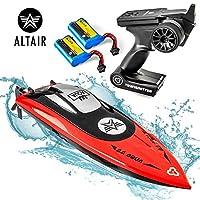Altair AA102 RED RC 船 适用于游泳池或湖泊 [超快速专业口径] 水*螺旋桨和自右系统 | 含2块电池 | 30km/h (林肯, NE Company) 红色