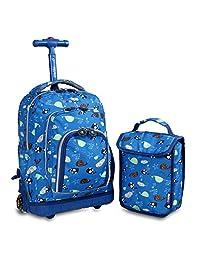 杰华德 中性童 1-3年级糖果双肩拉杆书包防水旅行包 RBS-16LSP(亚马逊自营商品, 由供应商配送)