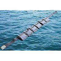 AKM-Scuuba 潜水口袋重量腰带 大号 黑色(6 个口袋)