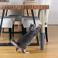 Primetime Petz Hauspanther 奢华防刮杆 - 可调节桌下猫爬架 Seagrass/Felt