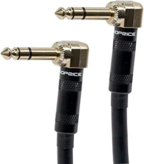 Monoprice 601100 8 英寸高级系列 1/4 英寸男士直角英寸公直角 16AWG 电缆(镀金)601100 8英寸