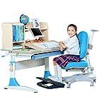 SINGAYE心家宜 净化甲醛儿童学习桌椅套装 可升降多功能 桌长100*60cm M130+M215L+M634(双层书架) 1799元