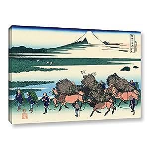 "ArtWall Katsushika Hokusai's Ono Shindon in The Suraga Province Gallery Wrapped Canvas Artwork, 12 x 18"""