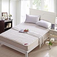 Xanlenss 轩蓝仕 弹性针织布面料薄款床护垫 吸汗排湿面料床垫亲肤床褥 针织榻榻米护床垫褥子 (180 * 200cm 1.9kg, 乳白色)