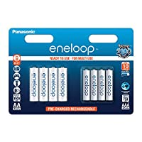 Panasonic eneloop BK-KJMCCE44E Combination Pack Ready-to-Use Ni-Mh Rechargeable Batteries (Pack of 8) (4x AAA Micro 750 mAh + 4x AA Mignon 1,900 mAh)
