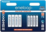 Panasonic eneloop BK-KJMCCE44E Combination Pack Ready-to-Use Ni-Mh Rechargeable Batteries (Pack of 8) (4x AAA