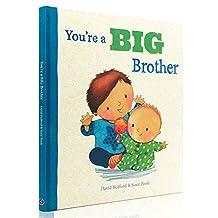 英文原版绘本YOU'RE A BIG BROTHER 你是一个大哥哥 精装 儿童故事图画书 大开 温暖亲情 情商绘本 二胎 两个孩子的相处