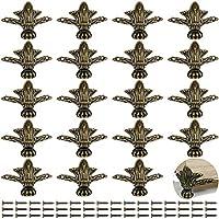 PGMJ 20 件复古设计装饰木盒腿,珠宝盒腿五金件,适用于复古木盒、橱柜、珠宝盒、礼品盒、酒盒、工具箱 K44_1