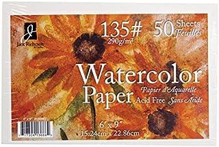 Jack Richeson 50 包 15.24 厘米 X 22.86 厘米 135# 水彩纸