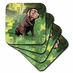 CST 3987狗拉布拉多寻回犬–巧克力色拉布拉多寻回犬–杯垫