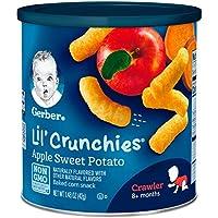 Gerber嘉宝Graduates Lil' 松脆巧克 苹果甜薯味 1.48 盎司(41.96克) (6 包)