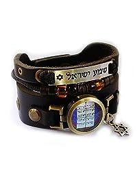 Lost Tribe Designs 希伯来语 Ten Commandments 手链,Shema Yisrael,六芒星和串珠