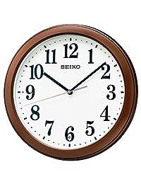 SEIKO 精工钟表 挂钟 电波挂钟 小型 茶色 金属 KX379B SEIKO