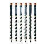 STABILO 思笔乐 小学生粗三角洞洞铅笔练字儿童学生铅笔/握笔乐木制铅笔322/HB六支装右手3.15mm(送卷笔刀橡皮笔帽)