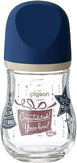 Pigeon 贝亲 宽口径玻璃奶瓶 新生儿婴儿奶瓶 臻宝系列 自然实感 160ml 礼物