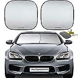 Autoamerics 挡风玻璃遮阳罩 - 2 件可折叠汽车前窗遮阳罩 Sports (Small) AMRC-Shades-Small-Fit