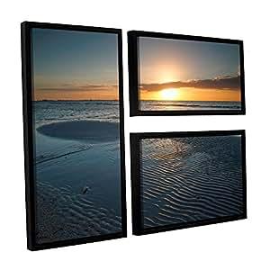 ArtWall 3 件 Steve Ainsworth's Sanibel Sunrise II Floater 加框帆布旗套装 24X36 0ain029g2436f