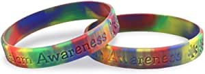 Autism Awareness 拼图手链 Adult Autism Awareness Silicone Bracelet 05 Bracelets