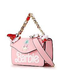 barbie 芭比 绘画系列 女式 彩绘印花丝巾链条斜挎手提包 BBFBPTAI557(供应商直送)