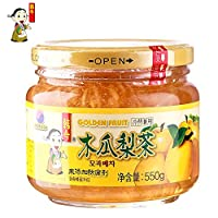 韩今(韩国) 蜂蜜木瓜梨茶550g(韩国进口)(亚马逊自营商品, 由供应商配送)