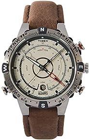 Timex 天美時 男士T2N720石英Tide Temp Compass手表 帶黑色指針和 黑色硅膠表帶