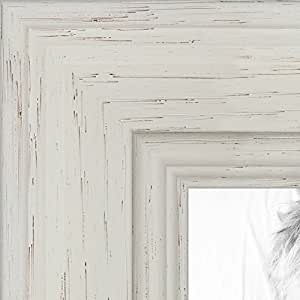 """实木上的白色着色画框 .3.81 cm 宽 白色 4 x 4"""" 2WOM0066-78238-YWHT-4x4"""