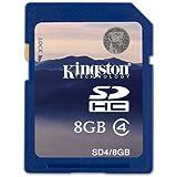 Kingston 金士顿 8G SDHC Class4 SD卡 SD4(蓝卡)