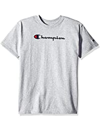 Champion 男童大童字体 T 恤