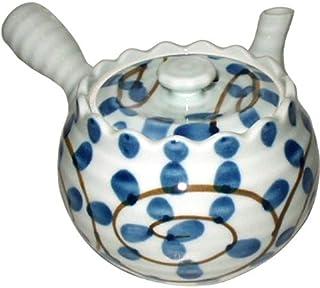 茶壶 时尚 : 有田烧 章鱼唐草 带U型茶壶 (400cc) Japanese Tea pot Porcelain/Size(cm) 17x11.5x8.3/No:468462