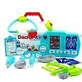 SUPER DEAL – 玩具*套装,适合儿童和幼儿,X-射线机,灯光和声音,20 件套,带手提箱