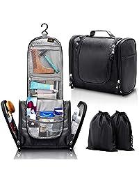 悬挂洗漱包 - 大号旅行化妆品收纳包 - 男女 - 化妆、洗漱用品、剃须套件、剪刀、*工具 - 防水 - 浴室和淋浴