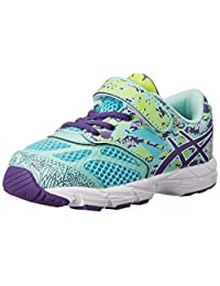 ASICS Noosa Tri 10 TS Running Shoes Turquoise/Grape/Lime 4 M US Toddler