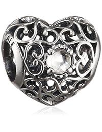 Pandora 潘多拉 纯银心形晶白串珠 791784RC(丹麦品牌 保税仓发货)(包邮包税)