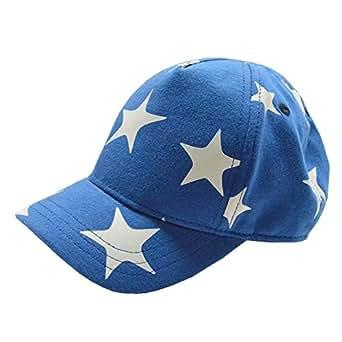 UQ 儿童可爱星星棉质可调节棒球帽太阳帽 Bule 44-46CM Head Girth,fits 3-6Month