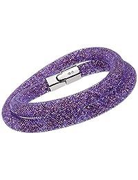 施华洛世奇 Stardust 5140103 紫色水晶双缠绕手链 - S
