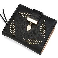 女式短款皮革钱包 叶子 双折卡零钱包 小钱包 带扣 拉链搭扣 由 Vodiu 制造