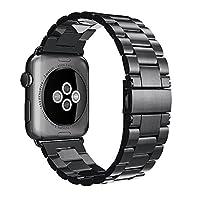 Apple 表带 42 毫米不锈钢金属替换手链腕带运动 iWatch 表带表带表带适用于 Apple Watch 系列 1 系列 2 系列 3 运动版