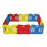 爱贝乐 Baby Care PlayPen 游戏围栏 宝宝防护栏 搭配爱贝乐儿童垫 多尺寸 (大型 10片, 红黄蓝)