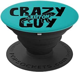 Crazy GriChiffon Guy ACF062m 爱狗人士流行袜子抓握和支架,适用于手机和平板电脑260027  黑色